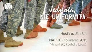 Buc Ján / Ján Buc - Jednota, nie uniformita (o ekumenizme) - 13.3.2015