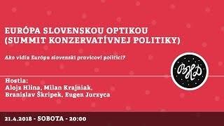 Škripek Branislav / Európa slovenskou optikou │ A. Hlina, Krajniak, Škripek, Jurzyca │21.04.2018