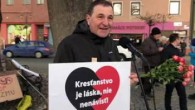 Prostredník Ondrej / Ondrej Prostredník na proti Kotlebovskom mítingu v Bytči