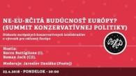 Bratislavské Hanusove Dni 2018 / Ne-EU-rčitá budúcnosť Európy? │ Rocco Buttiglione (I), Roman Joch (CZ) │23.04.2018